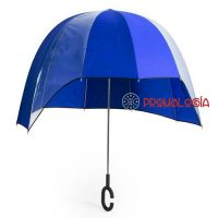 Paraguas recortado para publicidad de empresas.