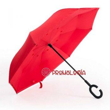 Paraguas reversible para publicidad de empresas.