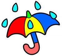 Dibujo infantil paraguas