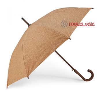 Paraguas de corcho publicitario.